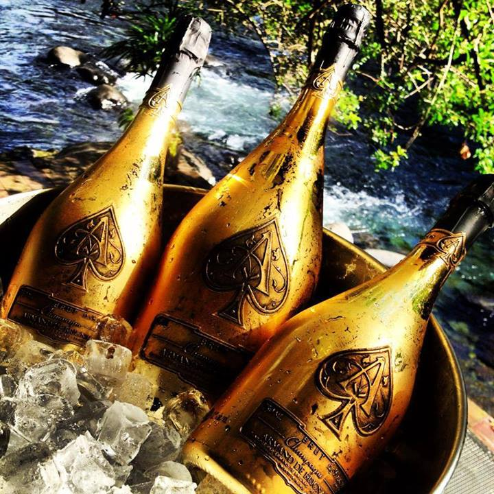 Ace of Spades Gold Champagne Bottles